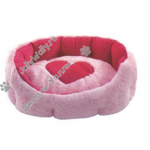 Лежанка Zoo-M Уютное гнездышко с сердцем