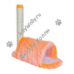 Домик-когтеточка Zoo-M YETI Orange Тоннель