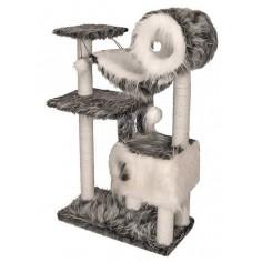 Домик-когтеточка Zoo-M YETI с гамаком и трубой