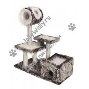 Домик-когтеточка Zoo-M YETI Памир с площадками и трубой
