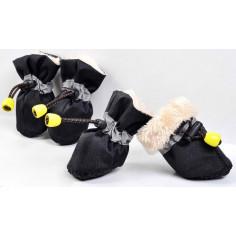 Сапоги Style на меху со светоотражающей вставкой на затяжках