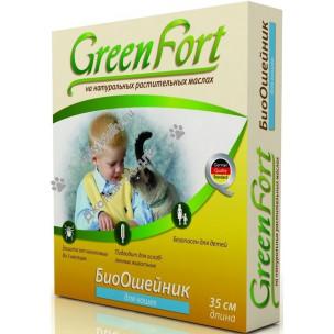 БиоОшейник GreenFort на натуральных маслах от блох, вшей, комаров, власоедов, слепней
