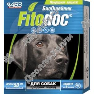 БиоОшейник Fitodoc от блох и клещей для средних собак