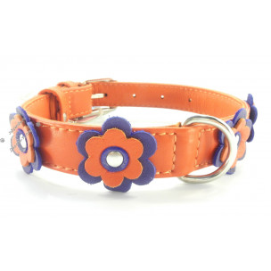 Ошейник Collar Glamour Flowers Orange Small