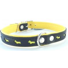 Ошейник Zooleszcz Reflection Dogs светоотражающий Black-Yellow 47-53 см