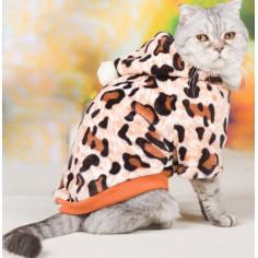 Толстовка плюшевая HOOPET Леопард