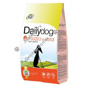 DailyDog Puppy Large Breed (turkey and rice) для щенков крупных пород с индейкой и рисом