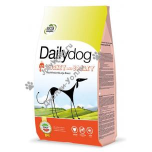 Корм DailyDog Adult Medium/Large Breed (turkey and barly) для взрослых собак средних и крупных пород с индейкой и ячменем