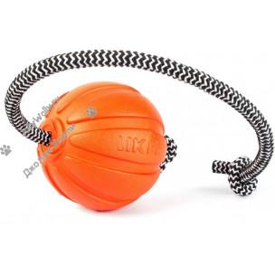 Мячик Collar ЛАЙКЕР 9 см. на шнуре для крупных пород