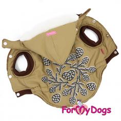 Куртка ForMyDogs Шишки светло-коричневая