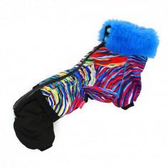 Комбинезон зимний ForMyDogs для Таксы Волна на меховом подкладе для мальчика