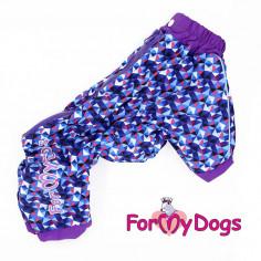 Комбинезон-дождевик ForMyDogs Фиолетовый для мальчика