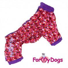 Комбинезон-дождевик ForMyDogs Красный для девочки