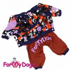 омбинезон-дождевик ForMyDogs коричневый для мальчика с капюшоном