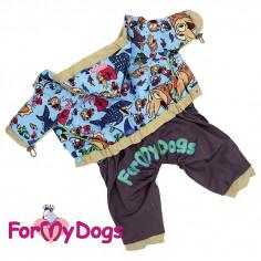 Комбинезон-дождевик ForMyDogs c сапожками для мальчика